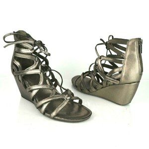 Kenneth Cole sz 9 Bronze Gladiator Wedge Sandals
